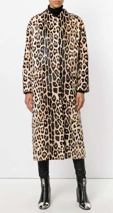liska модный леопардовый принт пальто 2018