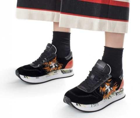 модные итальянские кроссовки premiata