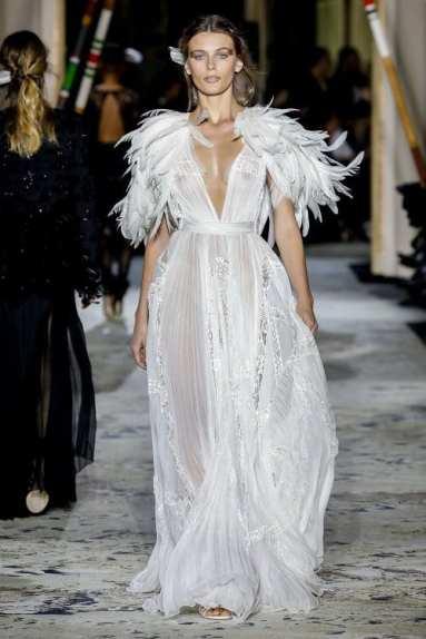 красивое платье свадебное с перьями zuhair murad couture 2018