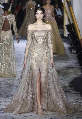 шикарное свадебное платье вышивка zuhair murad couture 2018