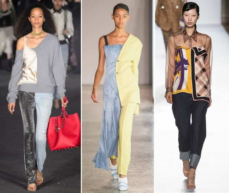 asimmetric fashion trend spring estate 2018