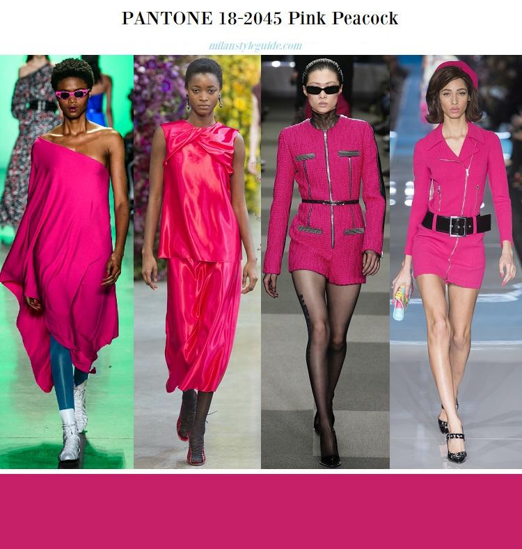 fashion trend color PANTONE 18-2045 Pink Peacock