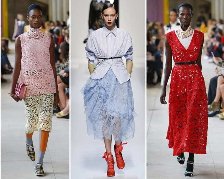 ashion trend spring 2018 Lace