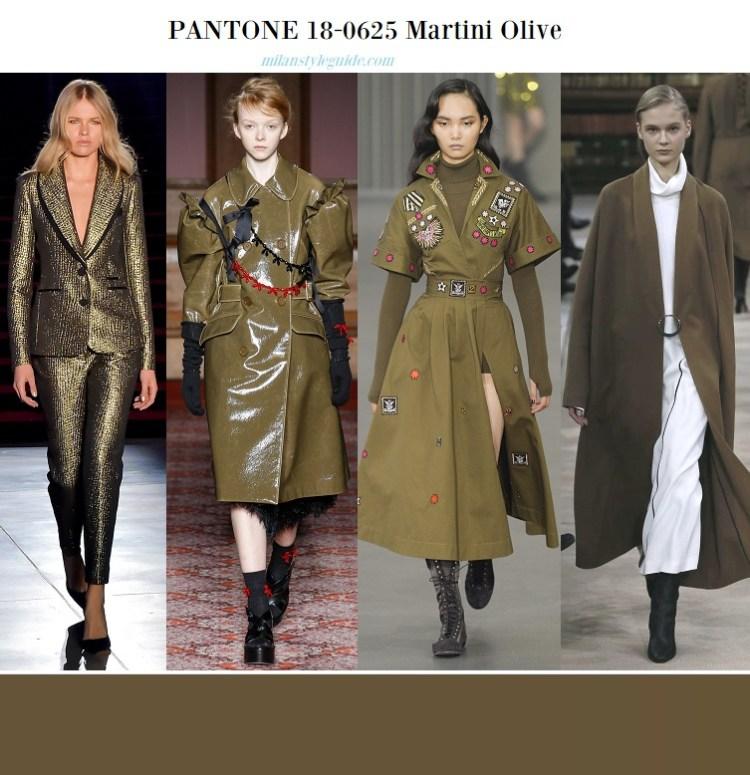 color fashion trend fall 2018 PANTONE 18-0625 Martini Olive – Оливка мартини