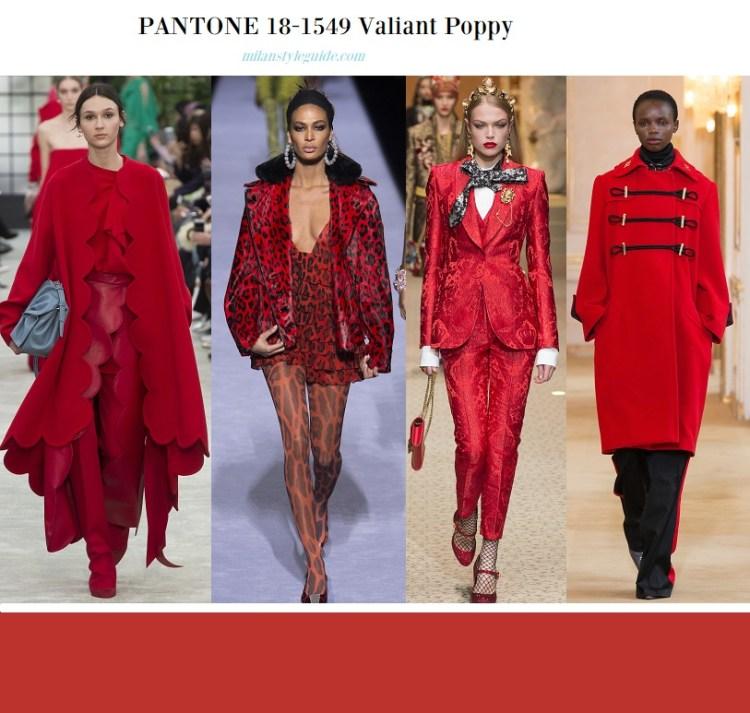 color fashion trend fall 2018 2019 PANTONE 18-1549 Valiant Poppy