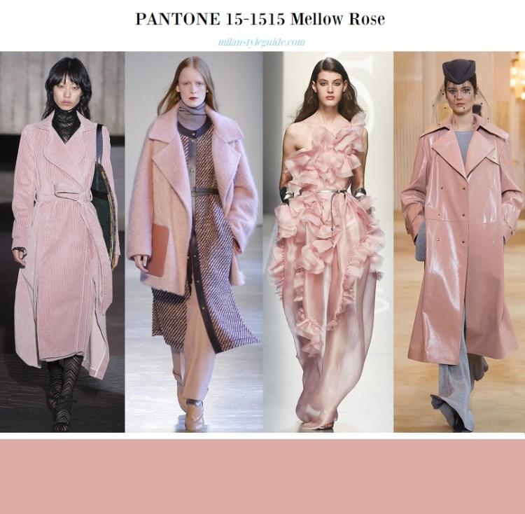 модный розовый цвет осени 2018 Pantone 15-1515 Mellow Rose