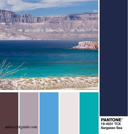 fall 2018 blu color combination PANTONE 19-4031 Sargasso Sea – Саргассово море
