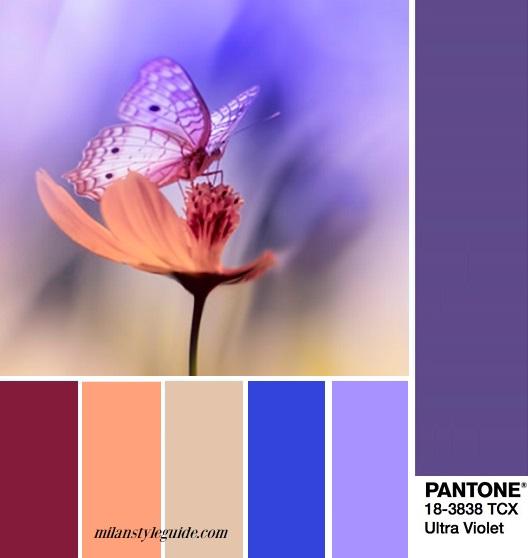 color fashion trend fall 2018 2019 PANTONE 18-3838 Ultra Violet цветовая палитра