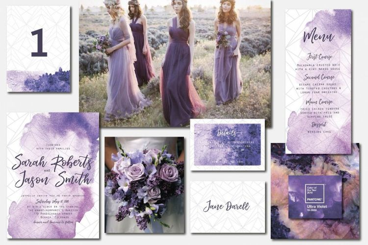 цвет свадьбы 2018 ultra violet wedding color trend 2018