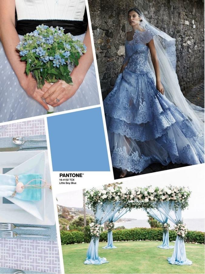 цвет свадьбы 2018 - wedding color PANTONE Little Boy Blue