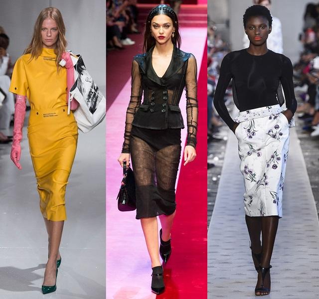 модные показы что модно весна лето 2018 юбка карандаш