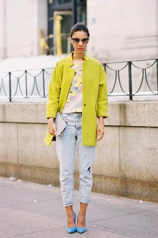 Желтый Пантон 2018 Lime Punch стрит стайл