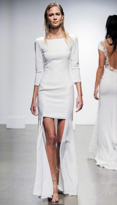 Rime Arodaky модное свадебное платье 2019 тенденция вырез лодочка