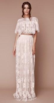 модные свадебные платья 2019 тенденция crop top Tadashi Shoji bridal fall 2019