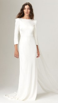 Theia модное свадебное платье 2019 тенденция вырез лодочка