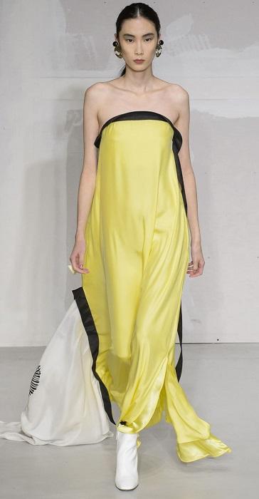 модный желтый цвет Meadowlark giallo-krizia-s18