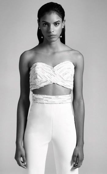 модные свадебные платья 2019 тенденция crop top cushnie