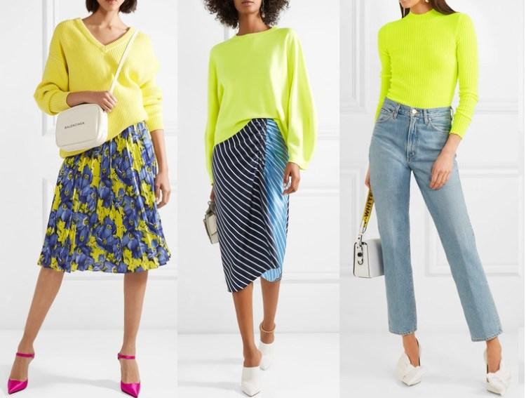 Желтый Lime Punch мода весна 2018 лето