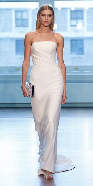 Justin Alexander свадебные платья 2019 - тенденция простота и минимализм