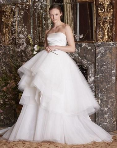 модное свадебное платье с пышной юбкой Monique Lhuillier 2019
