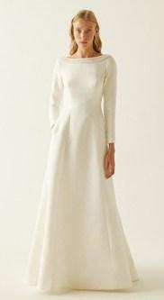Sebastien Luke модное свадебное платье 2019 тенденция вырез лодочка