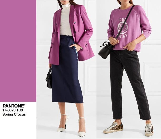 2018 модный цвет Пантон spring crocus