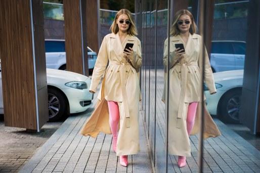 стрит стайл тренч мода весна лето 2018