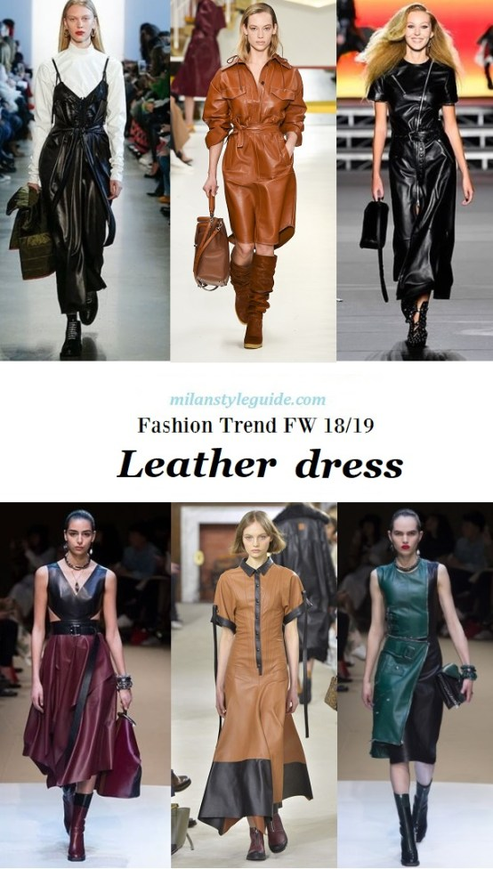 fashion trend Leather dress