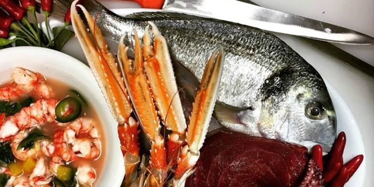 свежая рыба и морепродукты в Милане