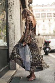 как носить модное леопардовое платье в 2018