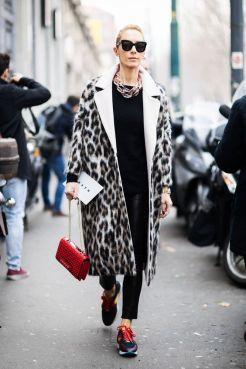 тренд 2018 леопардовое пальто - стильные комбинации