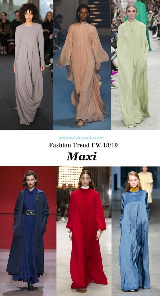 Модная тенденция осень зима 2018 2019 maxi