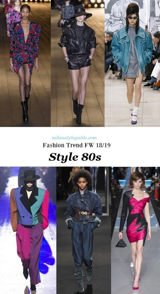 модный тренд 80-е - мода зима осень 2018 2019