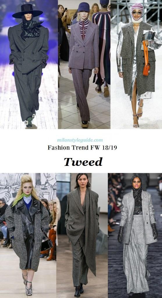 модная тенденция осень зим 2018 2019 твид