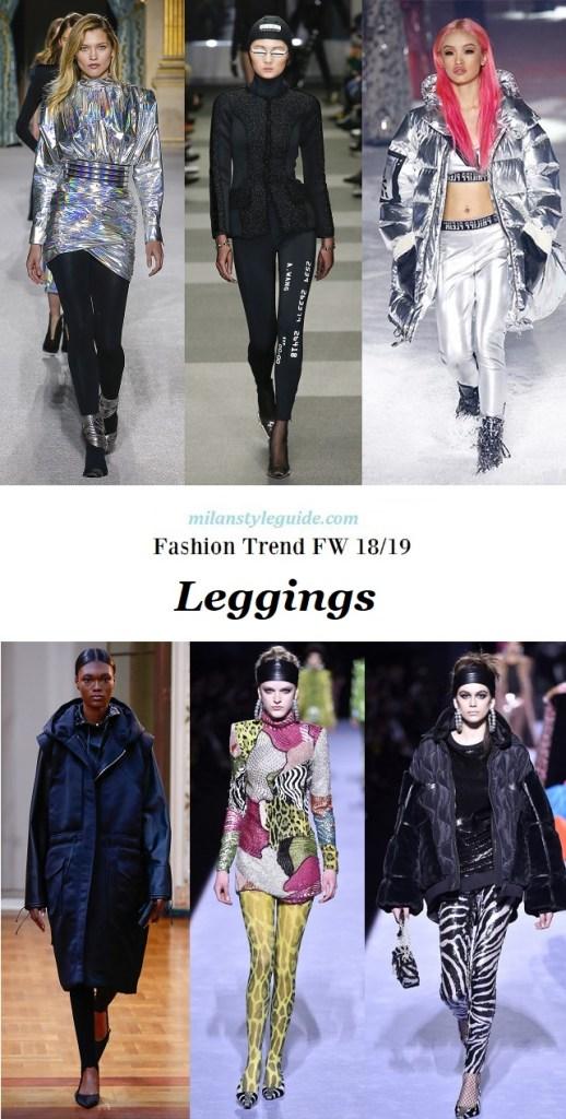 что модно осенью 2018 2019 модные тенденции leggings