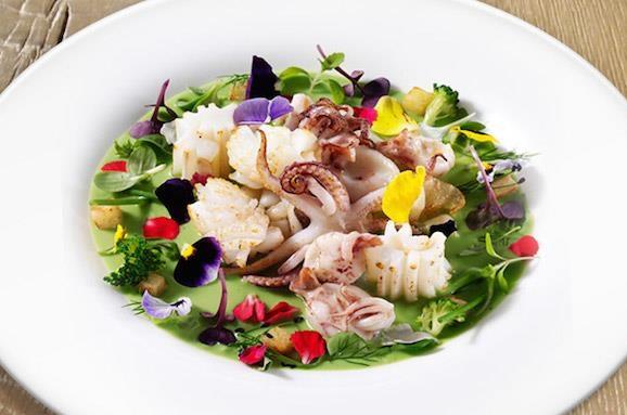 вкусная рыба ресторан ц центре Милана звезда мишлен