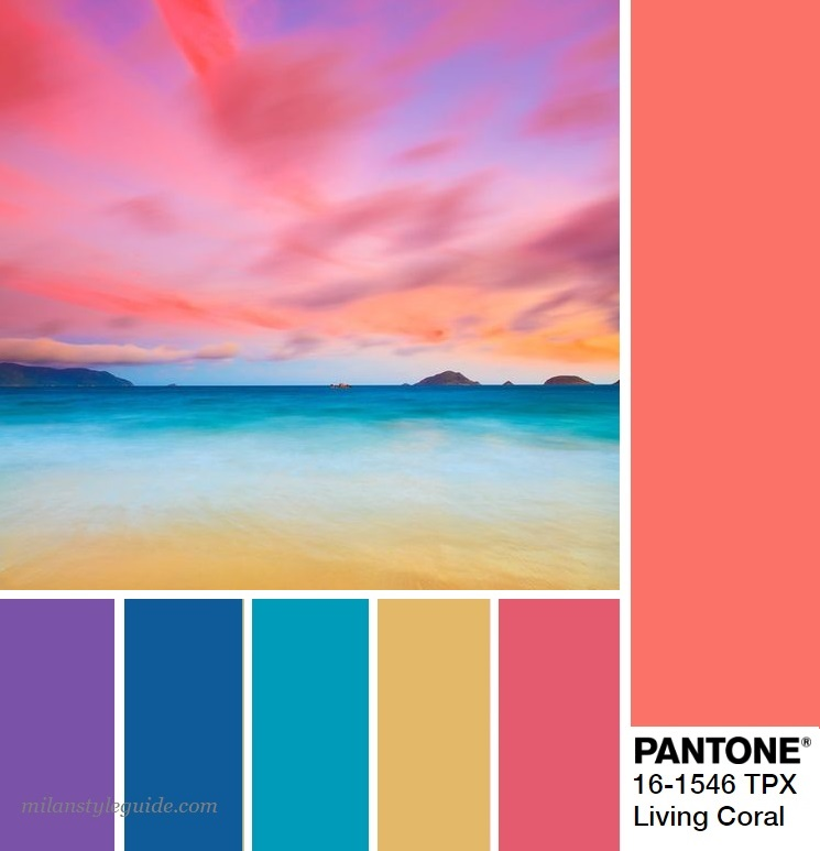 модная цветовая палитра весна лето 2019 Пантон PANTONE 16-1546 Living Coral