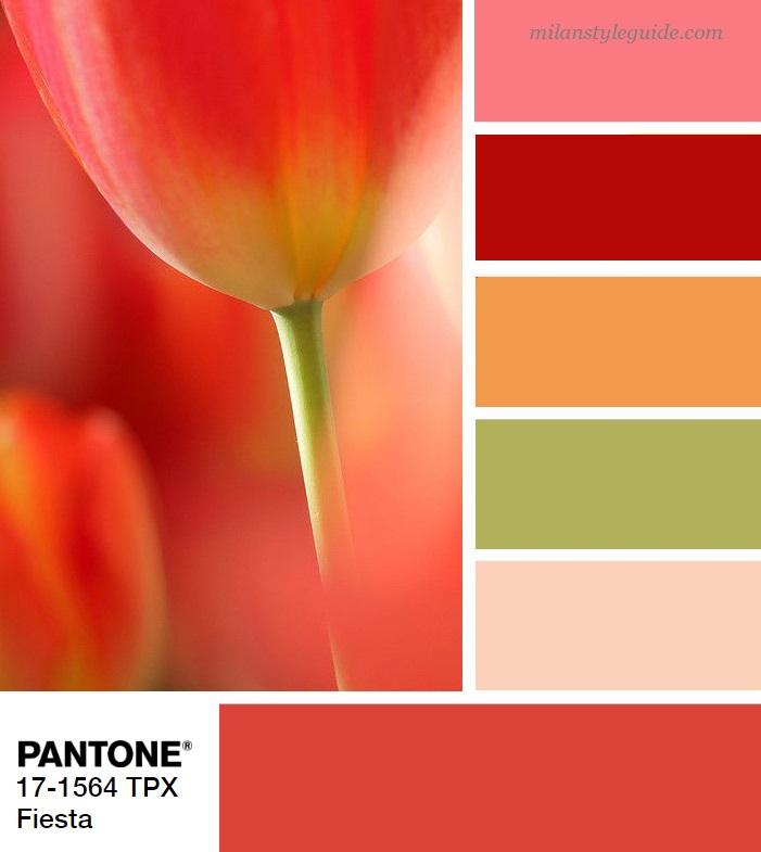 модная цветовая палитра весна лето 2019 Пантон PANTONE 17-1564 Festa