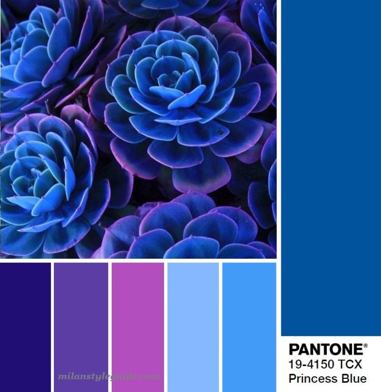 модная цветовая палитра весна лето 2019 Пантон PANTONE 19-4150 Princess Blue