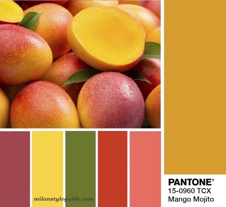 модная цветовая палитра весна лето 2019 Пантон Mango Mojito Panton 15-0960