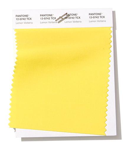 модный желтый цвет Пантон весна лето 2019 Лимоная вербена