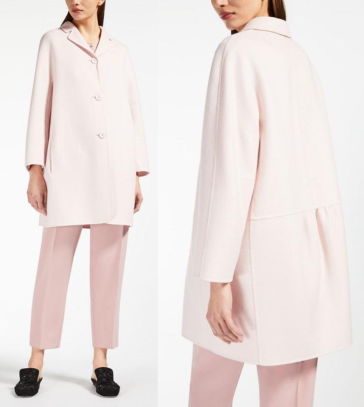 укороченное пальто розовое Макс Мара