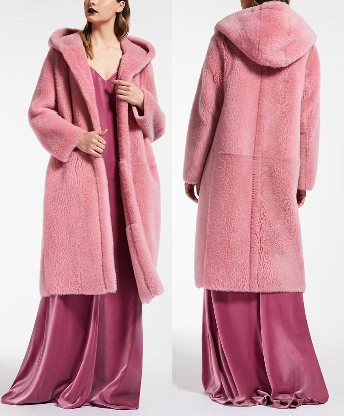 Макс Мара пальто Teddy розовое Милан цена