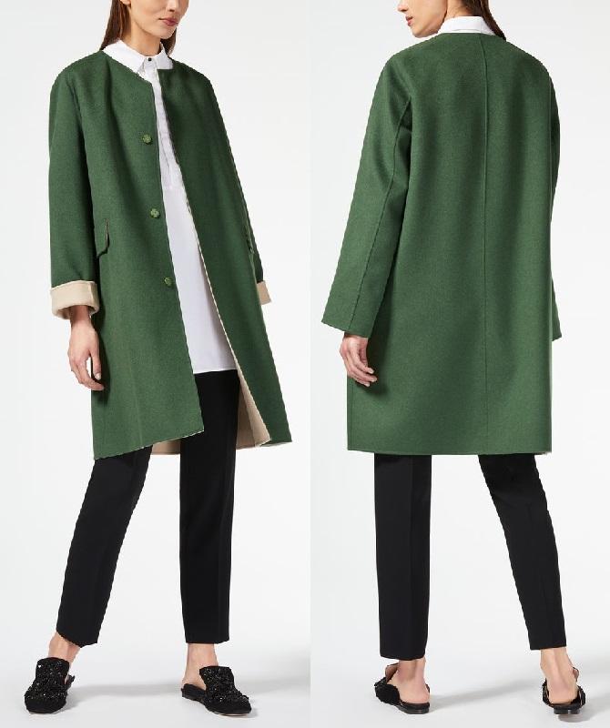 зеленое короткое пальто Макс Мара