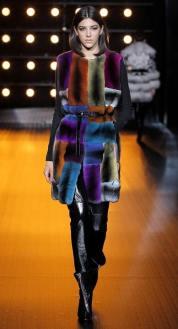Braschi модная итальянская шуба из шиншилы зима 2019 в Милане