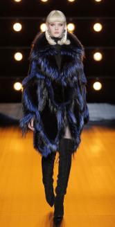 Braschi модная итальянская шуба из чернобурки зима 2019 в Милане
