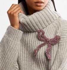 стильный элегантный образ с брошью - как правильно носить брошь