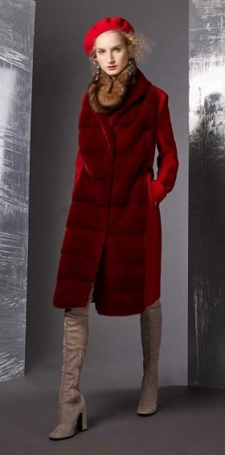 модное итальянское пальто Piazza Sempione с меховым воротником тренд зима 2019