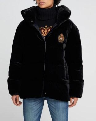 Polo Ralph Lauren модный пуховик италяи из бархата - тренд зима 2018 2019