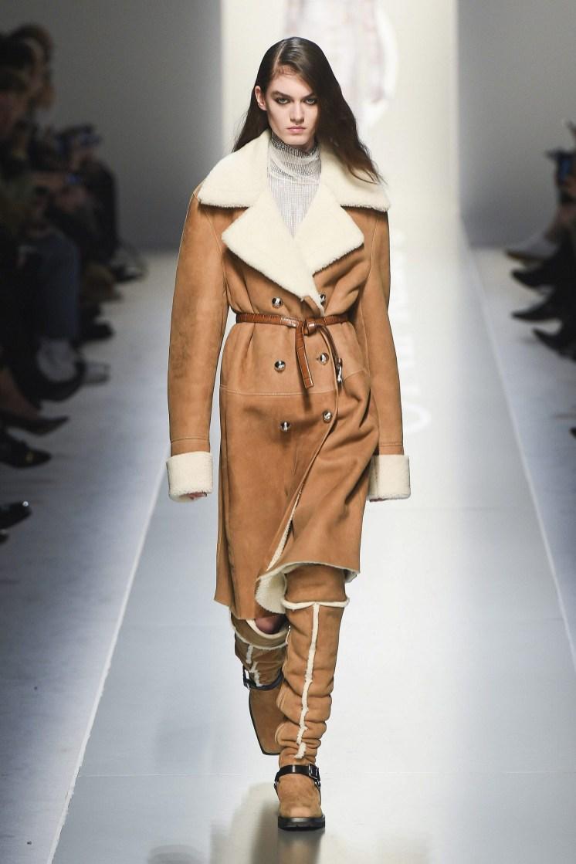 Модная дубленка Simonetta Ravizza Италия зима 2018 2019